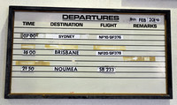International departures board, Vanuatu